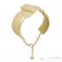 Bracelet manchette drapé articulé Dolce Vita doré