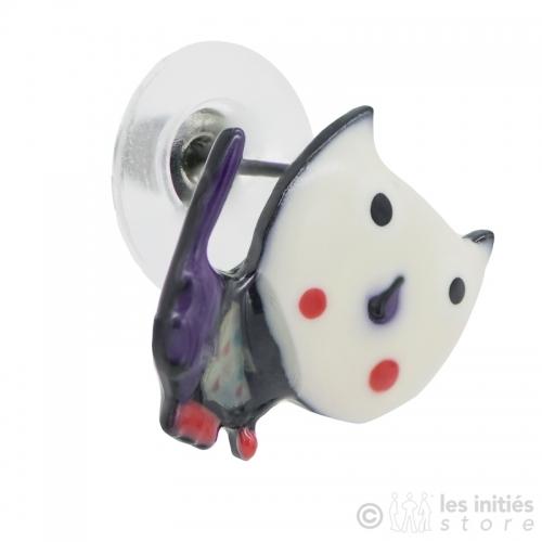 Boucles d'oreilles chatons blancs