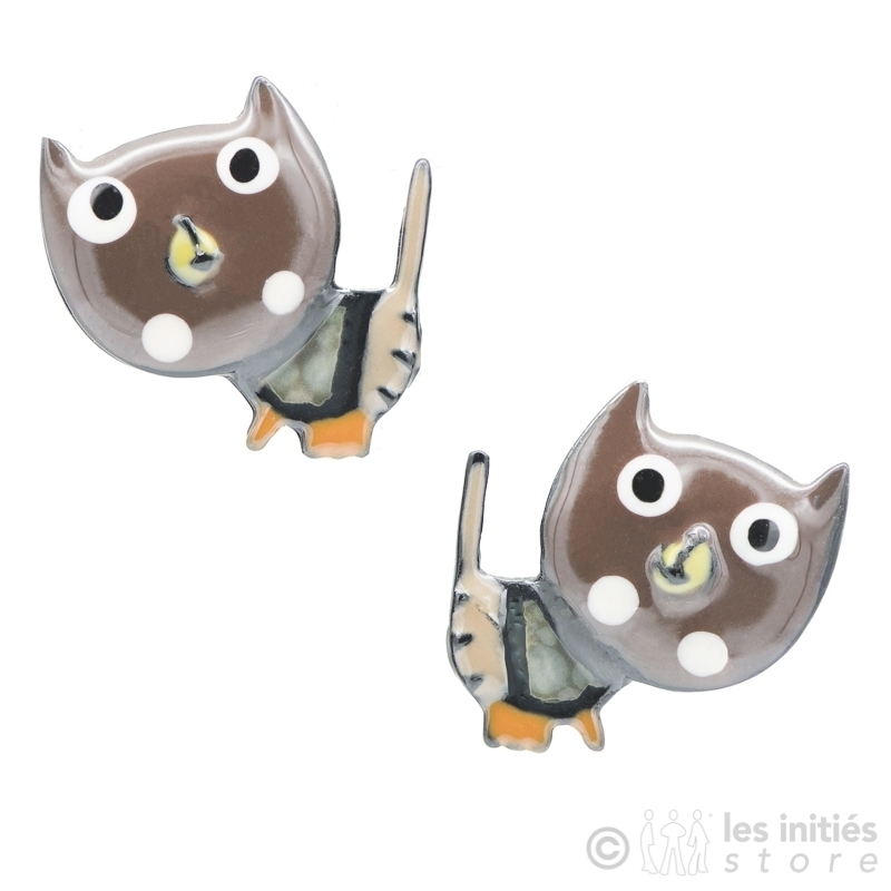 Boucles chatons marrons