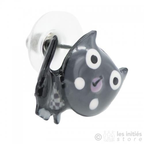 Grey cats earrings