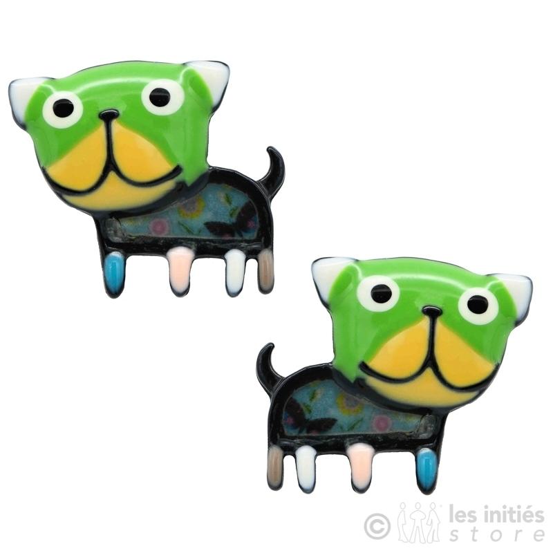 Boucles d'oreilles vert pomme