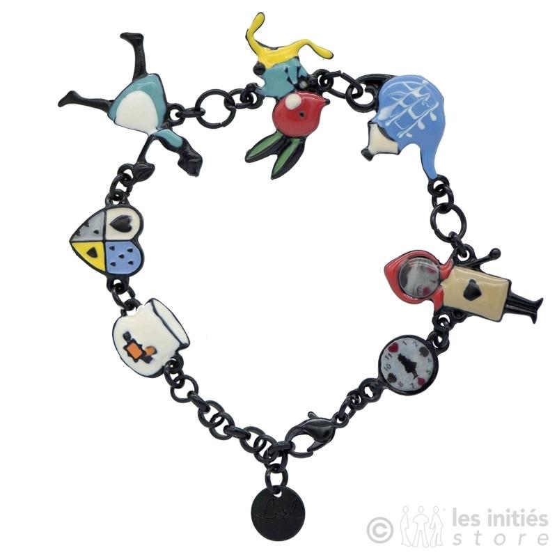 Bracelets personages Alice au pays des merveilles