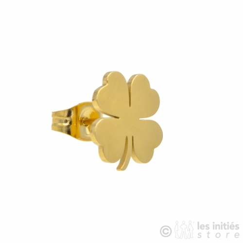 zag golden clover earrings