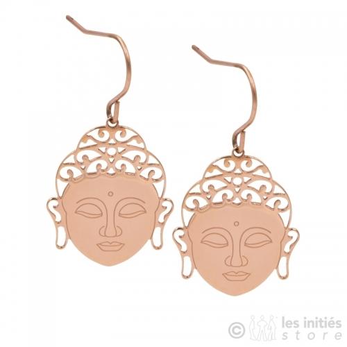 boucles d'oreilles Zen rosées