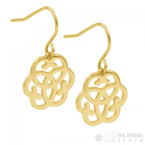 lucky gold earrings