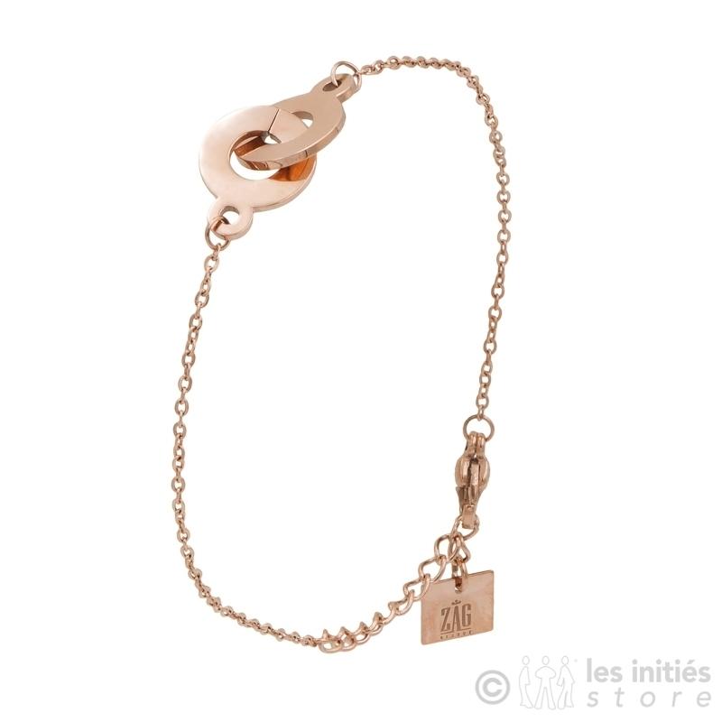 Bracelet menottes roses