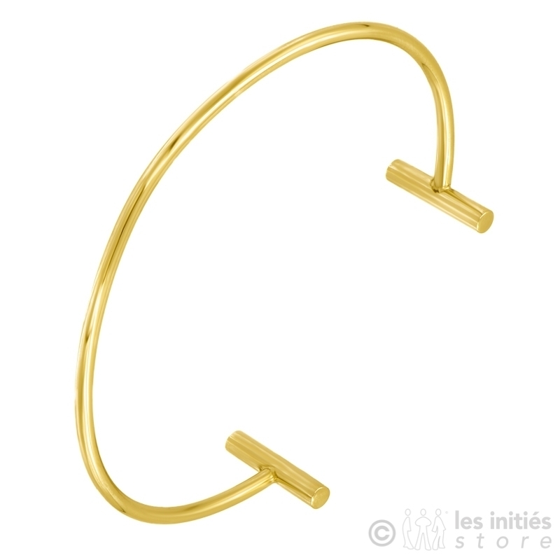 Bracelet rigide minimaliste doré