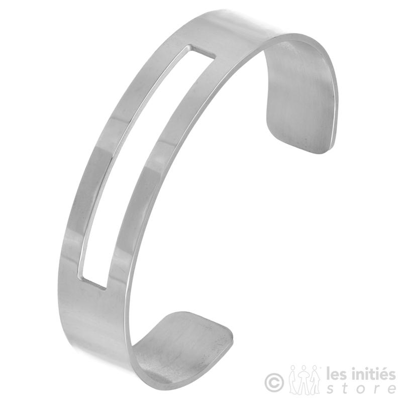 Bracelet  rigide ajouré acier