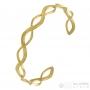 Bracelet  entrelacé doré anallergique