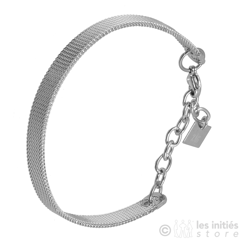 Bracelet acier tressé fin