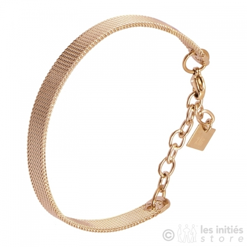 gol rose braided bracelet