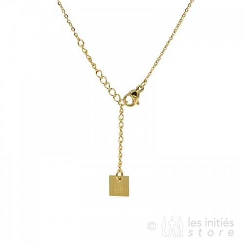 Collier Zag doré anallergique
