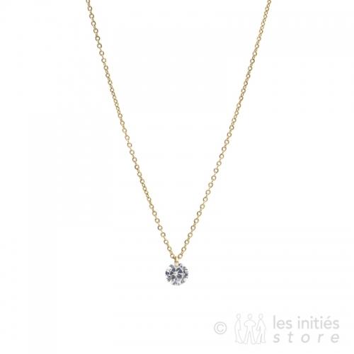 rhinestone enchassed necklace