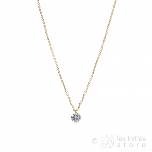 rhinestone enchassed necklace