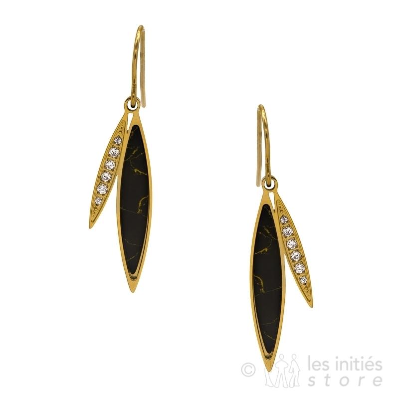 dressed leaves earrings