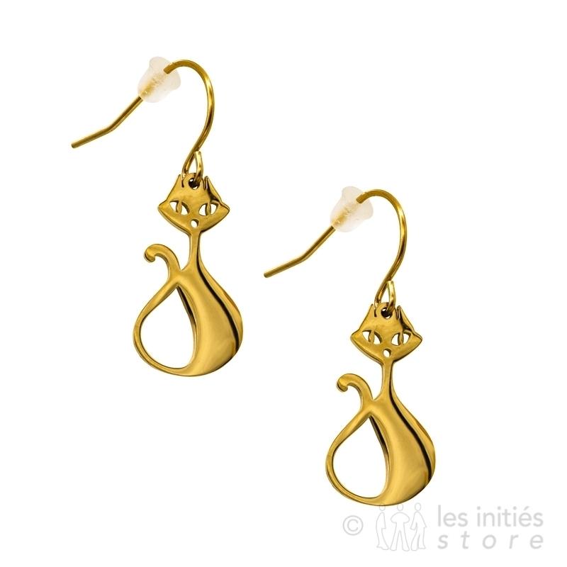 stange cat earrings