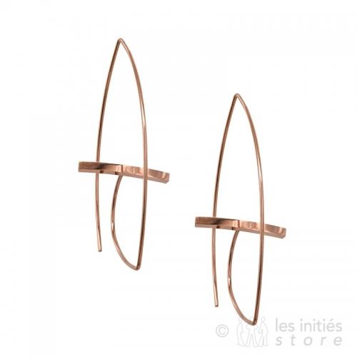 Boucles d'oreilles art moderne