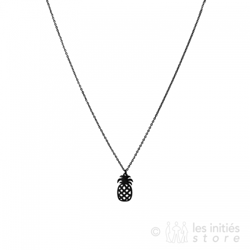 black pinapple necklace