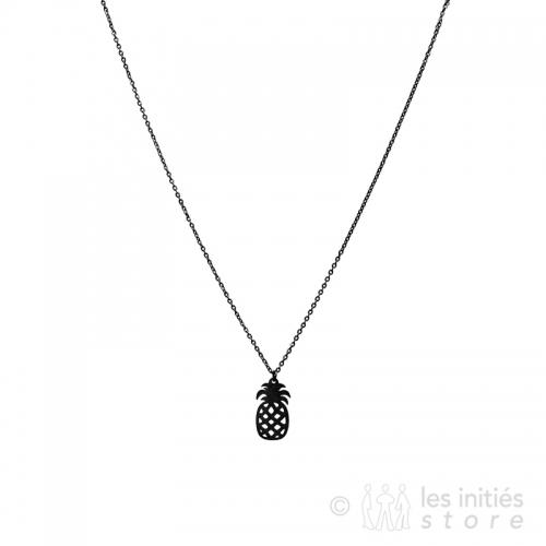 black pinapple necklace