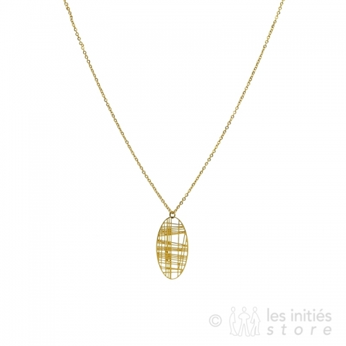 refined filigree necklace gold