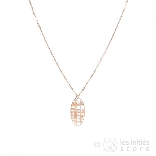 refined filigree necklace rose gold