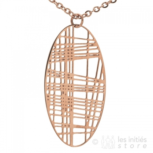 delicate thread pattern necklace