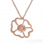 rose gold flower necklace
