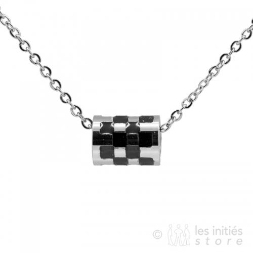 bicolor cylinder necklace