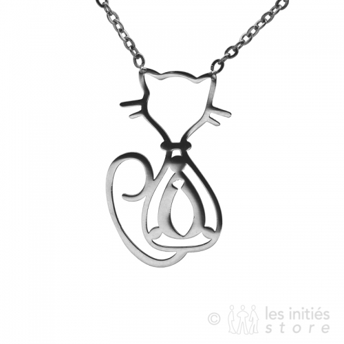 Collier fantaisie  chat