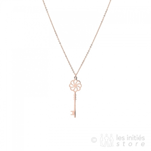 key gold rose necklace