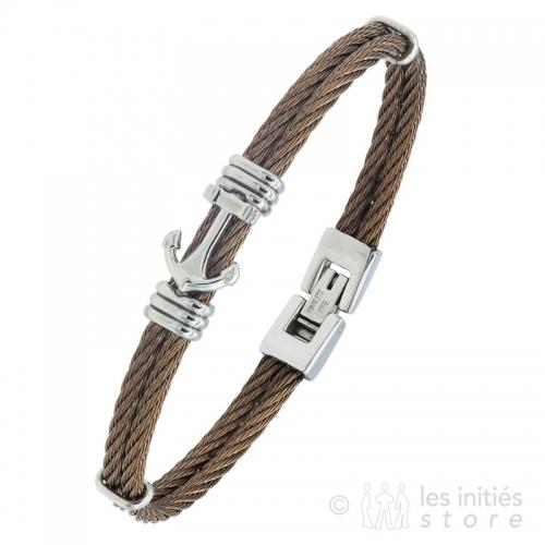 anchor braided wire bracelet