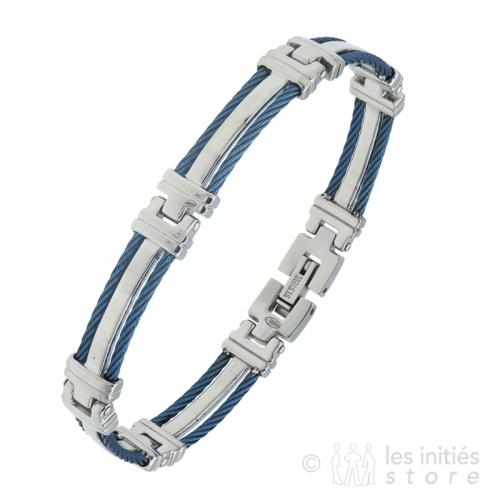 men's metallic bracelet