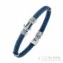 Bracelet gros câble ancre bleu