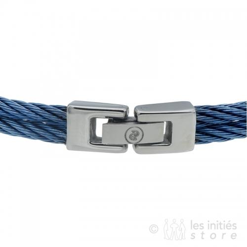 blue braided wire steel clasp