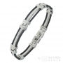 black and white steel men's bracelet