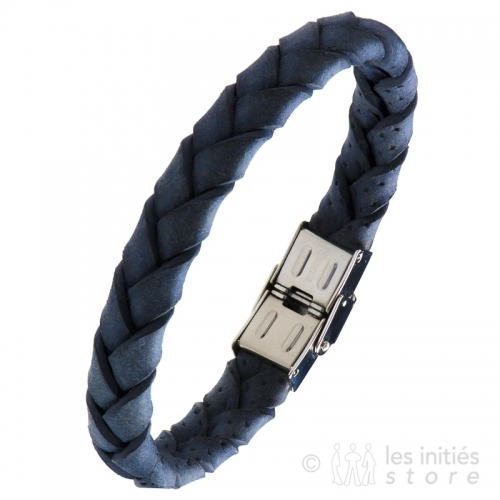 blue leather jewelry mens