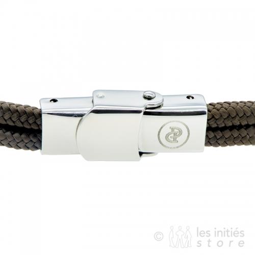 Bracelet Elden hameçon marron acier