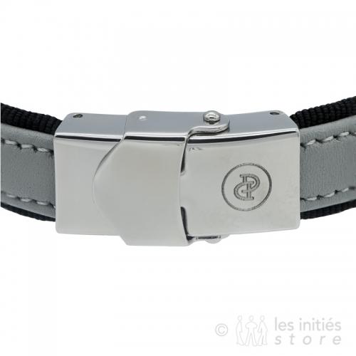 grey leather adjustable bracelet