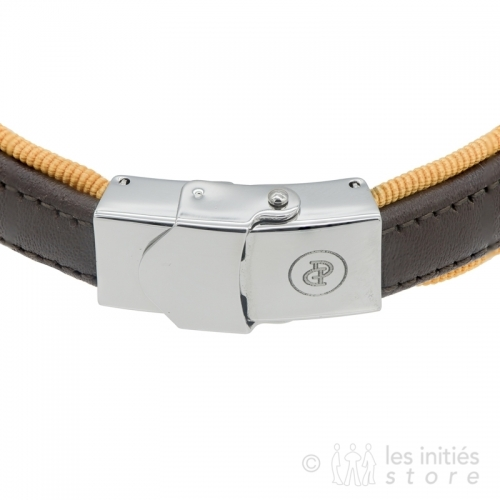 Bracelet marron douille cuir