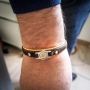 orange brown shooter man bracelet