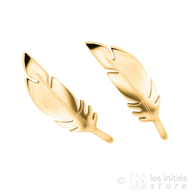 1.5 cm x 0.4 cm feather earrings