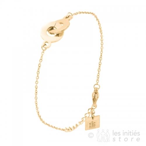 Bracelet anneaux plats