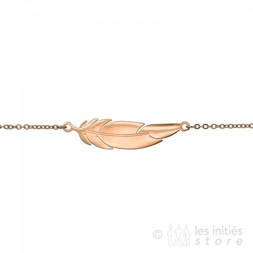 rose gold feather bracelet