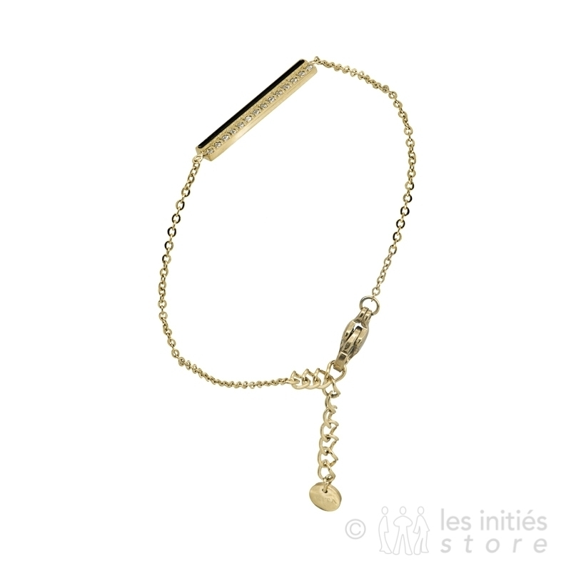 Bracelet rangée de strass