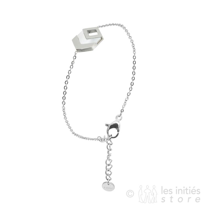 3D bracelet silver