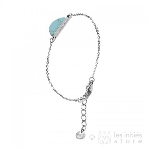 Bracelet pierre turquoise et argent