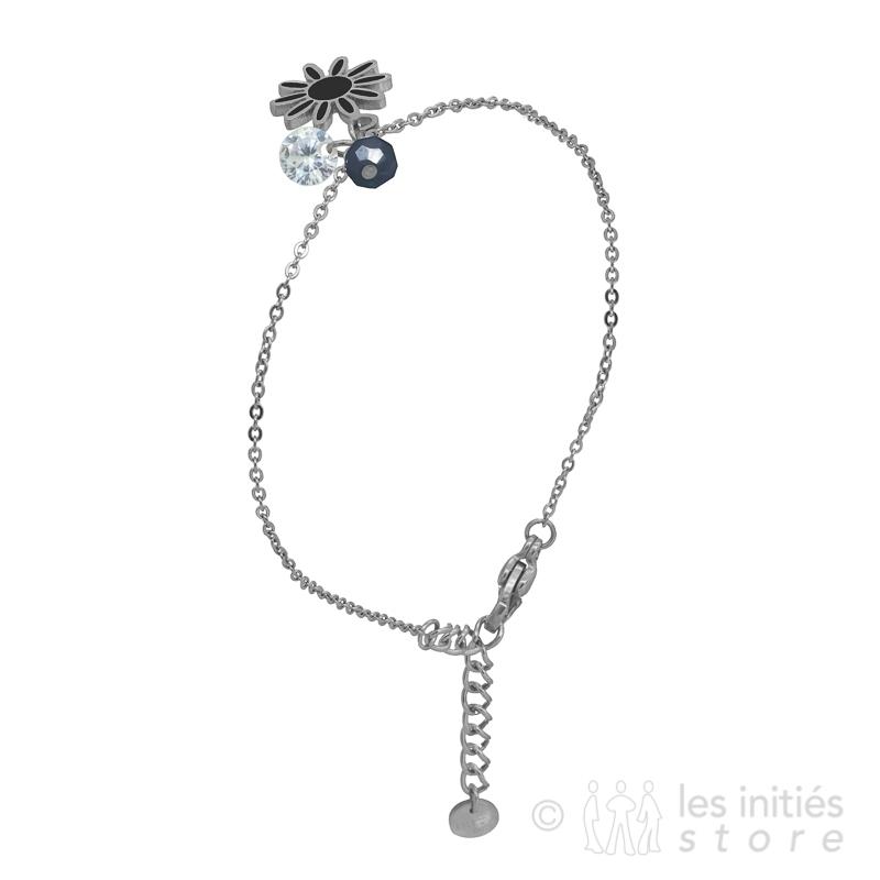 Bracelet fleur acier bracelet anti-allergique