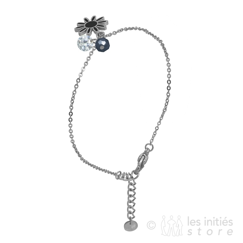 black stone charms bracelet