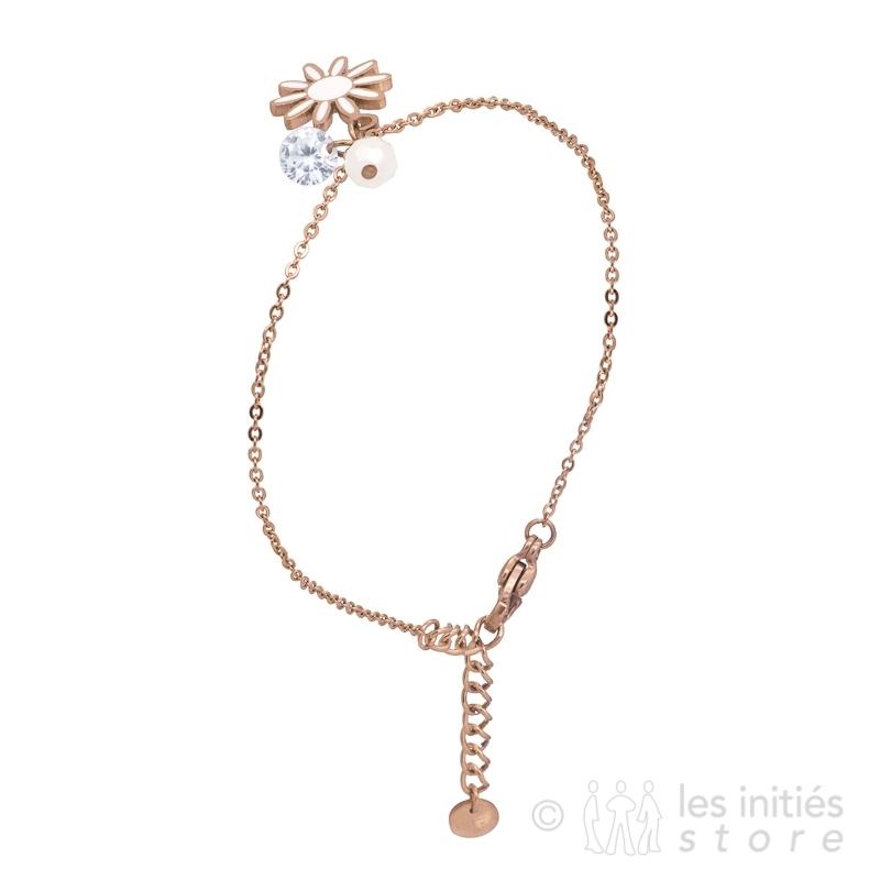white stone flower bracelet