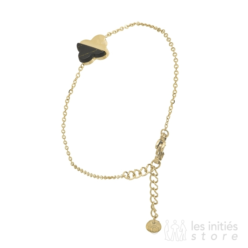 bracelet trèfle pierre